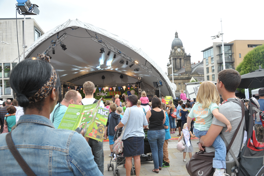 CBBC Live in Leeds crowd at main stage