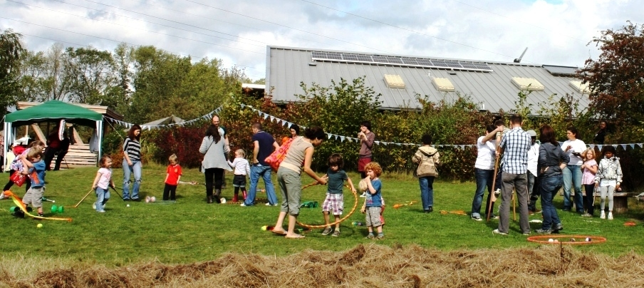 Young people taking part in the the Big Green open day