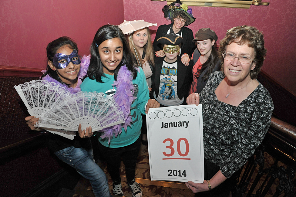 Picture of young people and Cllr Blake child friendly Leeds awards