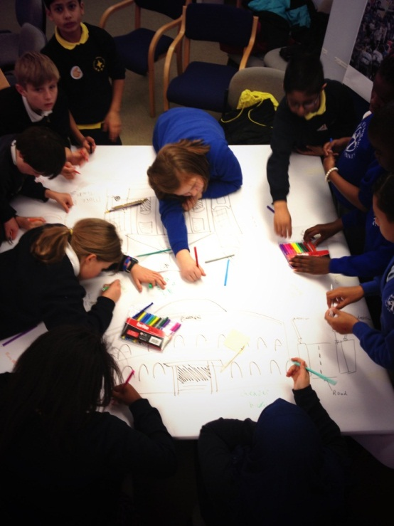 TdF Takeover Day - image of children drawing