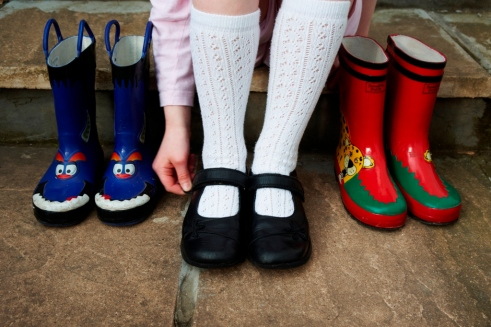 Wellies and feet