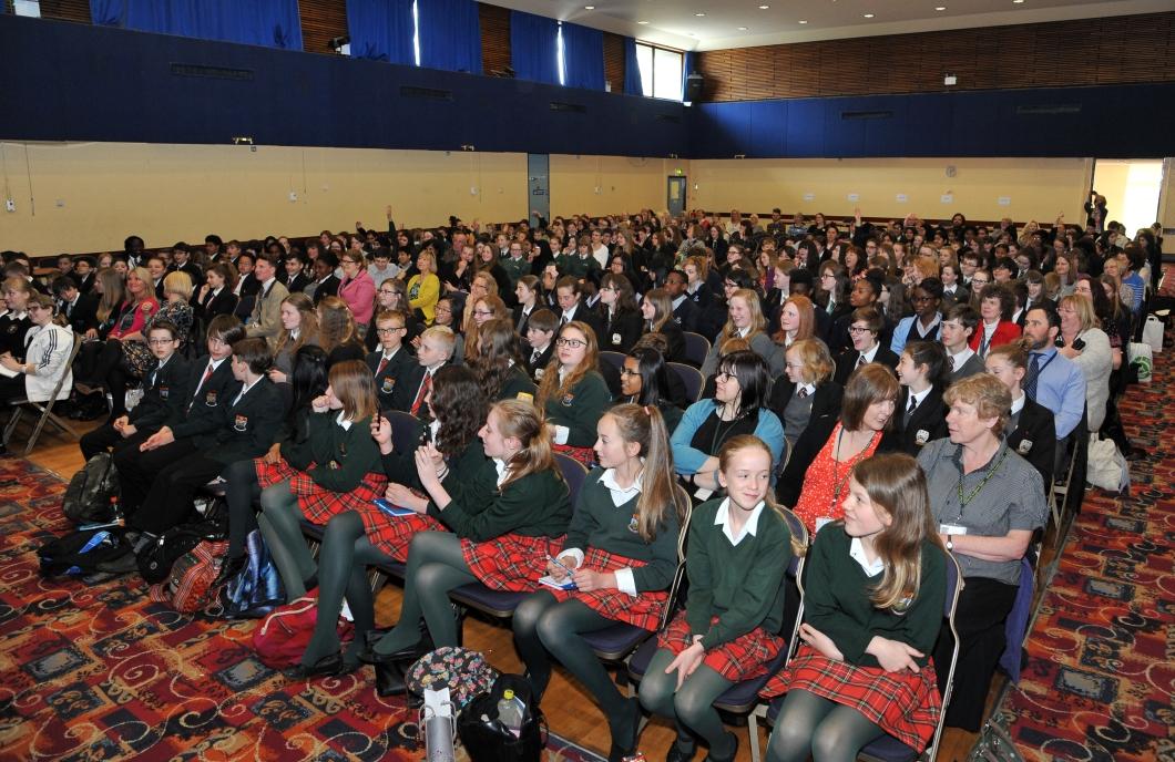 Children from across the city attending Leeds book awards!