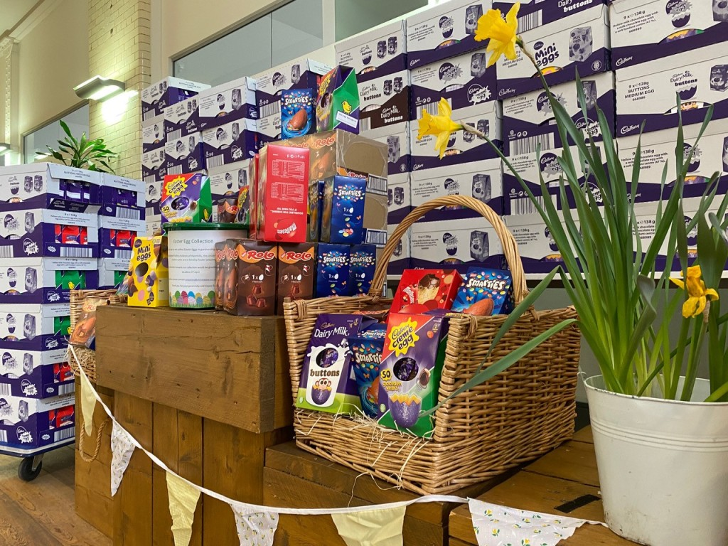 Easter Eggs Donated to children in Leeds